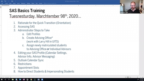 Thumbnail for entry IUPUI Student Appointment Scheduler (SAS) Training on the Basics- 04.14.2020