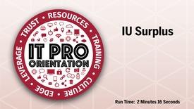 Thumbnail for entry IU Surplus