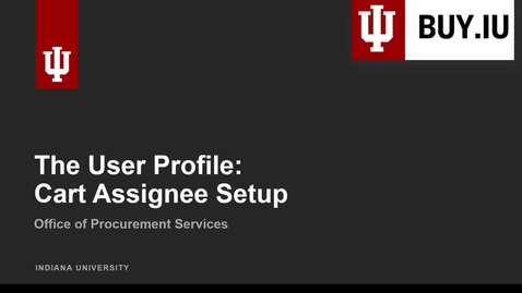 Thumbnail for entry The User Profile:  Cart Assignees