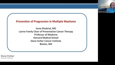 """Thumbnail for entry IUSCCC Grand Rounds 2/12/2021: """"Prevention of Progression in Multiple Myeloma"""" Irene Ghobrial, MD Lavine Family Chair for Preventative Cancer Therapies, Professor, Department of Medicine, Harvard Medical School"""
