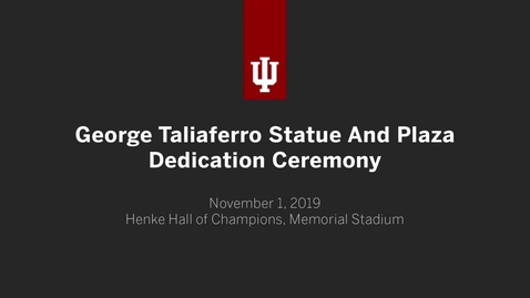 Thumbnail for entry George Taliaferro Plaza and Statue Dedication