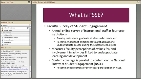 Thumbnail for entry Adding Context to NSSE with FSSE