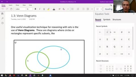 Thumbnail for entry S&P 1.3-pt1: Intro to Venn Diagrams