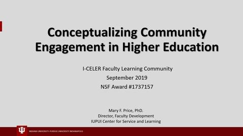 Thumbnail for entry Conceptualizing Community Engagement