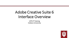 Thumbnail for entry Adobe Creative Suite 6 Interface Overview