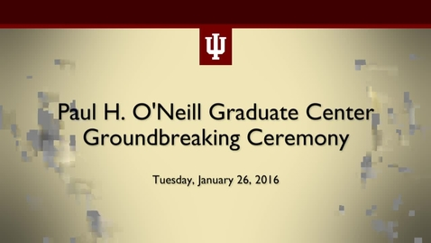 Thumbnail for entry Paul H. O'Neill Graduate Center Groundbreaking Ceremony