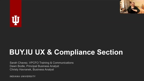 Thumbnail for entry 08/26/2021 BUY.IU UX and Compliance Section Discussion