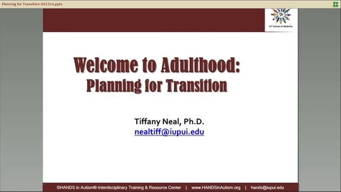Thumbnail for entry Welcome to Adulthood_ Planning for Transition