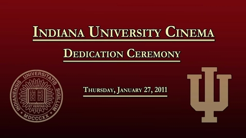 Thumbnail for entry Acclaimed Film Director to Help Dedicate New IU Cinema