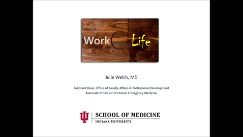 Thumbnail for entry Welch WorkLife 26Apr16