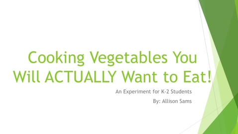 Thumbnail for entry Cooking Vegetables You Will ACTUALLY Want to Eat!