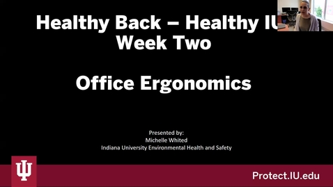 Thumbnail for entry 2021 Healthy Back Series: Week 2
