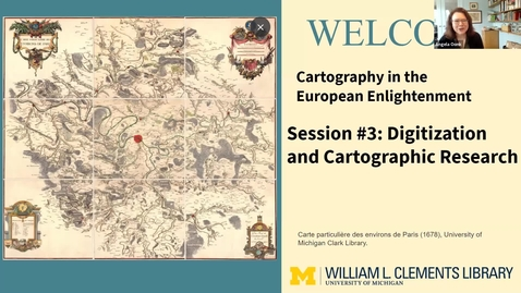 """Thumbnail for entry 2021 March 23, """"Digitization and Cartographic Research"""" - Part 3/3, History of Cartography Virtual Discover Series"""