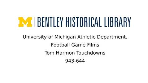 Thumbnail for entry Tom Harmon Touchdowns