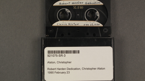 Thumbnail for entry Robert Hayden Dedication, Christopher Alston [Side 1 - No Side 2]
