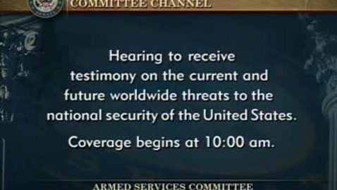 Thumbnail for entry Congressional Papers, 1964-2015 > 2009-2014 > Defense and Armed Services Committee (SASC), 1997-2015 > Committee hearings and investigations (SASC) > Current and Future Worldwide Threats, April 18, 2013