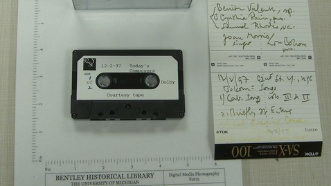 Thumbnail for entry 92nd St. Y, New York City - Today's Composers - Courtesy tape [Side 1]