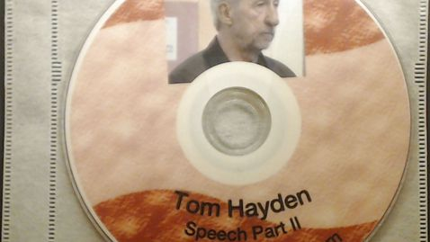 """Thumbnail for entry Fiftieth Anniversary Videos > Tom Hayden, """"The Importance of Community Organizing:         From the Peace Corp to Barack Obama"""", October 14, 2010 > Part 2"""