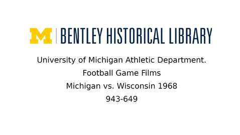 Thumbnail for entry University of Michigan Football vs. Wisconsin  1968