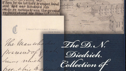 """Thumbnail for entry 2018 October 16, Cheney Schopieray, """"The D.N. Diedrich Collection of Manuscript Americana, 17th-20th Century"""""""