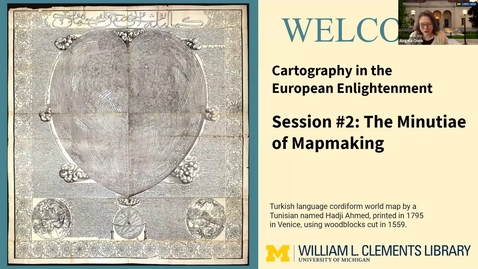"""Thumbnail for entry 2021 March 16, """"The Minutiae Behind Mapmaking"""" - Part 2/3, History of Cartography Virtual Discover Series"""