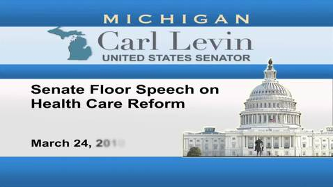 Thumbnail for entry Congressional Papers, 1964-2015 > 2009-2014 > Audiovisual materials > YouTube videos > Senate Floor Speech on Health Care Reform, 2010 March 24