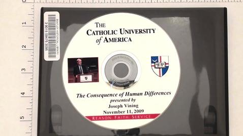 "Thumbnail for entry Speeches and Writings, 1955-2012 > Speeches and Presentations > The Catholic University of America, ""The Consequences of Human Differences"", 2009"