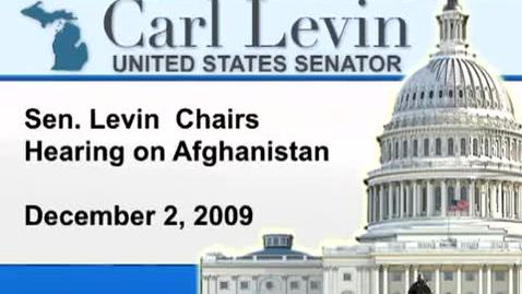 Thumbnail for entry Congressional Papers, 1964-2015 > 2009-2014 > Audiovisual materials > YouTube videos > Hearing on Strategy in Afghanistan and Pakistan, 2009 December 03