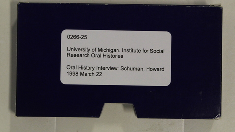 Thumbnail for entry Oral History Interview: Schuman, Howard