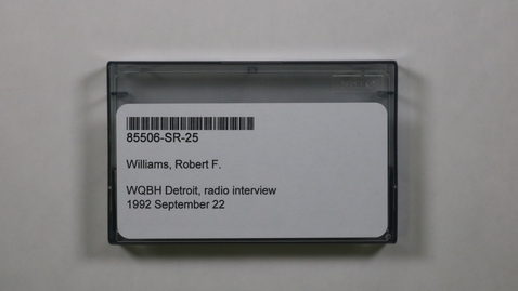 Thumbnail for entry WQBH Detroit, radio interview [Side 1 - No Side 2]