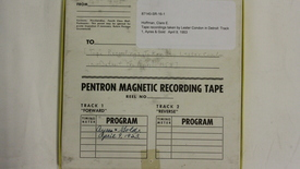 Thumbnail for entry Tape recordings taken by Lester Condon in Detroit: Track 1, Ayres & Gold [Part 1]