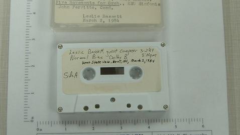 Thumbnail for entry Leslie Bassett, guest composer, Kent State University, Kent, Ohio [Side 2]