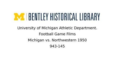 Thumbnail for entry University of Michigan Football vs. Northwestern  1950
