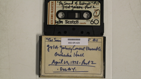"Thumbnail for entry WDET, Detroit ""The Sound of Detroit,"" show tape 11 - Griot Galaxy Concert Ensemble  Part 2 - Orchestra Hall  [Side 2]"