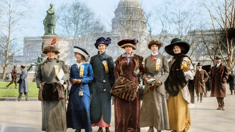"""Thumbnail for entry 2020 November 7, Allison Lange, """"The Women's Suffrage Movement in Photographs"""""""