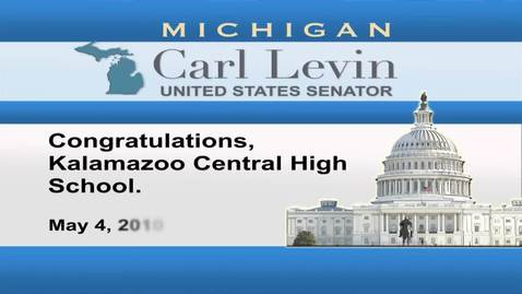 Thumbnail for entry Congressional Papers, 1964-2015 > 2009-2014 > Audiovisual materials > YouTube videos > Congratulations Kalamazoo Central High School, 2010 May 04