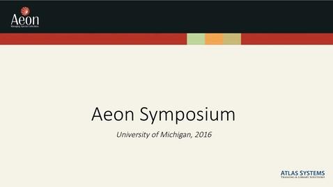 Thumbnail for entry Aeon Symposium – Friday Keynote – Kate Hutchens and Moira Fitzgerald