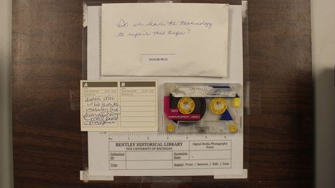 Thumbnail for entry Vocabulary and interview on KCBS, undated (damaged tape)  [Side 1]