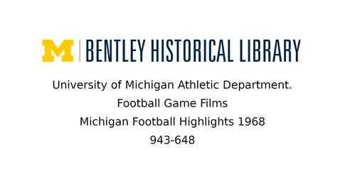Thumbnail for entry Michigan Football Highlights  1968