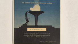 Thumbnail for entry The Detroit Olympics Presentation on Tape: a complete record of the presentation                 of Detroit to the U.S. Olympic Committee in New York [Side 1 - No Side 2]