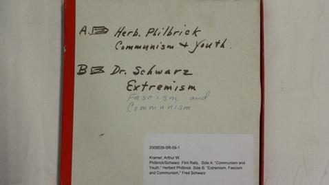 Thumbnail for entry Herbert Philbrick; Fred Schwarz. Flint Rally [Part 2]
