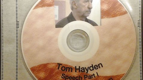 """Thumbnail for entry Fiftieth Anniversary Videos > Tom Hayden, """"The Importance of Community Organizing:         From the Peace Corp to Barack Obama"""", October 14, 2010 > Part 1"""