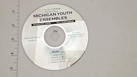 Thumbnail for entry Audio Recordings > Michigan Youth Ensembles > March 27, 2006 > Band                 Concert, Disk 2 of 3