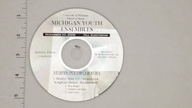 Thumbnail for entry Audio Recordings > Michigan Youth Ensembles > November 20, 2006 >                 Symphony Orchestra, Disk 3 of 3