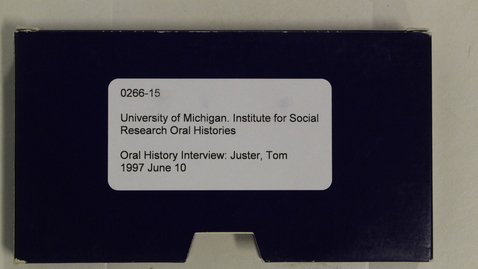 Thumbnail for entry Oral History Interview: Juster, Tom