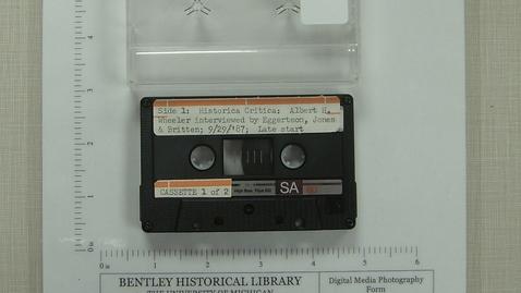 Thumbnail for entry Historica Critica; Albert H. Wheeler [Side 1]