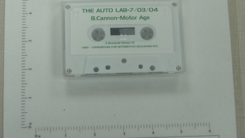 Thumbnail for entry The Auto Lab - Bill Cannon - Motor Age - A Broadcast Service of CAED - Consortium for Automotive Education NYC [Side 1; no Side 2]