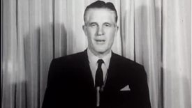 """Thumbnail for entry """"George Romney announcing his candidacy for governor"""" footage"""