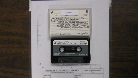 Thumbnail for entry Oral History of Freeman D. Miller [Side 1; no Side 2]