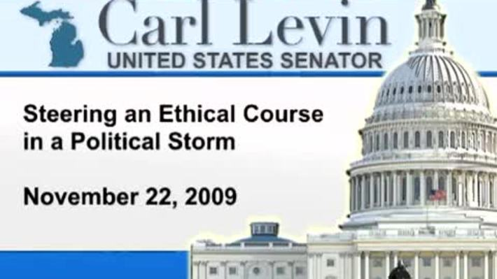 Congressional Papers, 1964-2015 > 2009-2014 > Audiovisual materials > YouTube videos > Steering an Ethical Course in a Political Storm, 2010 January 13